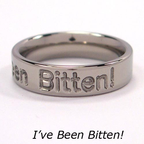 I've Been Bitten! Titanium Ring, Twilight Jewelry, All Sizes