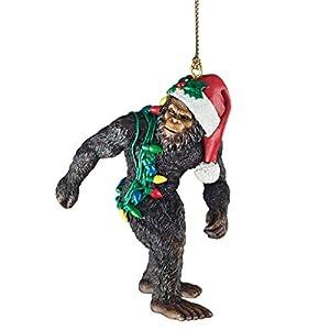 Best Epic Trends 41jrDFpIzGL._SS300_ Design Toscano DB383084 Bigfoot, the Christmas yeti with Sabta's hat Funny Christmas tree decoration, polyresin, full…
