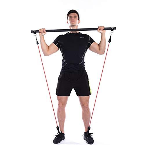 HISROOM Bande De Résistance Appareil Musculation pour Pilates Kit De Barres De Barre De Résistance Physique Idéal pour…