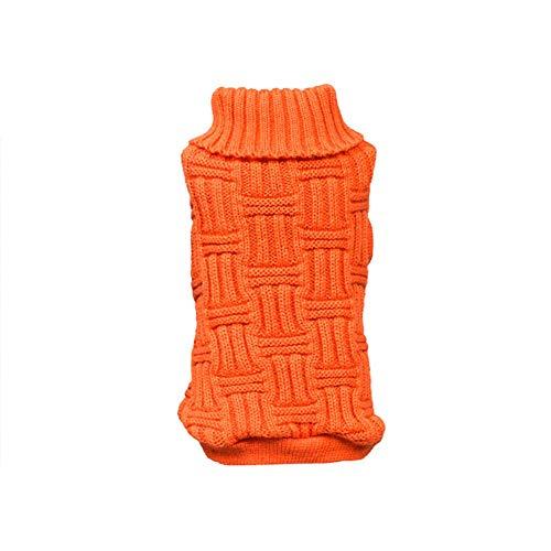 Orange Dog Sweater - Norbi Winter Autumn Small Pet Dog Cat Outdoor Warm Puppy Sweater Knitwear Clothes Jumper Orange M