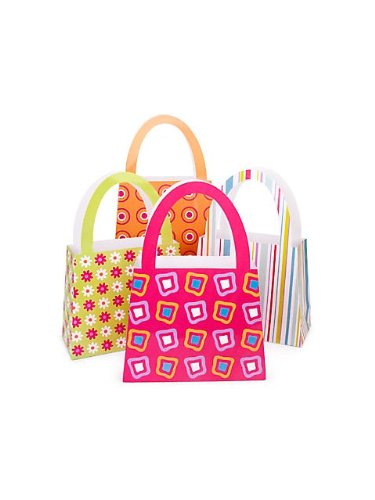 Purse Gift Bags - 1 Dozen - Party Favor Gift Bags Purses