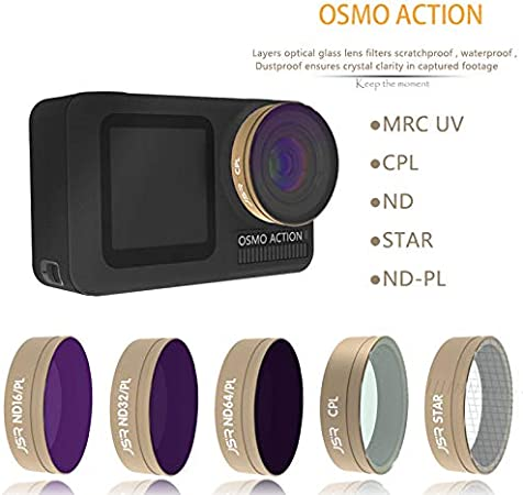Metermall JUNESTAR for DJI Osmo Action Camera Filter UV//CPL//ND4//ND8 Filter Action Camera Accessory UV