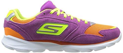 Skechers Go Run Sonic Victory - Zapatillas de Deportes de Exterior de otras pieles mujer Morado - Violet (Pror)