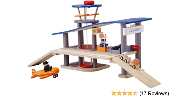 Amazon Com Plantoys City Series Airport Lily And Laura Toys Games