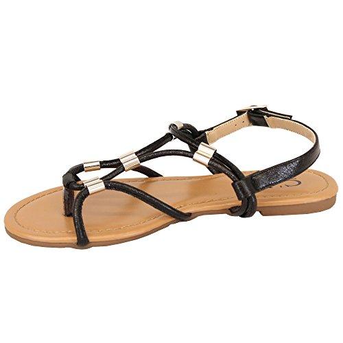 839709 cm Stylish Black Ladies' Sandals wZpIUnYx