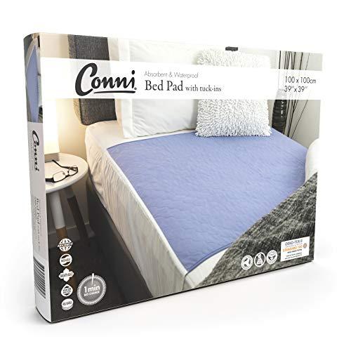 Conni Max Bed Pad, Mauve, 39 x 39 Inch