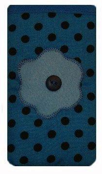 Lumire bleue ˆ pois imprimŽ Apple iPhone chaussette SE / Case / couverture