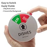 Kichwit Dishwasher Magnet Clean Dirty Sign