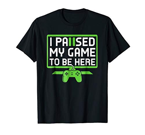 I Paused My Game To Be Here T-Shirt for Youth Boys Girls