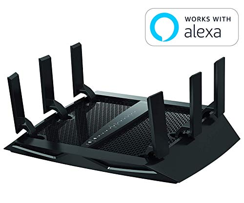Netgear (R7800-100NAS) Nighthawk X4S AC2600 4x4 Dual Band Smart WiFi Router, Gigabit Ethernet, MU-MIMO, Compatible with Amazon Echo/Alexa from NETGEAR