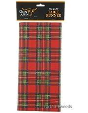Royal Stewart & Black Watch High Quality Airlaid Paper Tartan Table Runner (Royal Stewart)