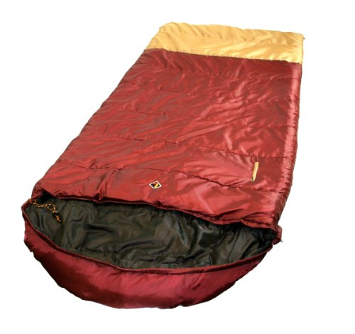 Ledge Sports Wasatch +20 F Degree XL Oversize Rectangular Sleeping Bag with Mummy Hood (90 X 40), Outdoor Stuffs