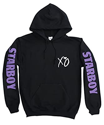 The Weeknd Starboy Xo Hoodie, Concert Merch, Tour Clothing, (Purple Print on Arms and White XO on Chest and Back)