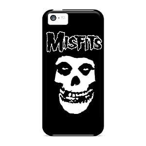 Bumper Hard Phone Cases For Iphone 5c (yep10422JVYB) Unique Design Fashion The Misfits Skull Logo Pattern