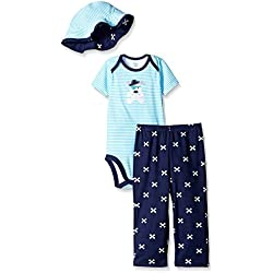 Gerber Pirate Dog, Baby Three-Piece Bodysuit, Bucket Hat, and Pant Set,, 18 Months
