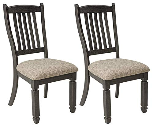 Leather Oak Folding Chair - Signature Design by Ashley D736-01 Tyler Creek dining-chair, Antique Black