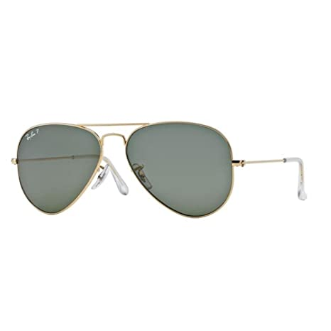 c4f007553998b2 Ray-Ban Aviator Sunglasses (Gold) (RB3025 001 58 58)  Amazon.in  Clothing    Accessories