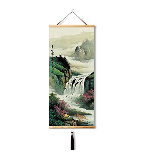 Silk Chinese Painting landscape painting Home Decorate Calli