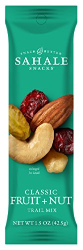 Sahale Snacks Grab & Go Classic Fruit + Nut Trail Mix, 1.5 Ounce (Pack of 18) (Dry Trail Mix)