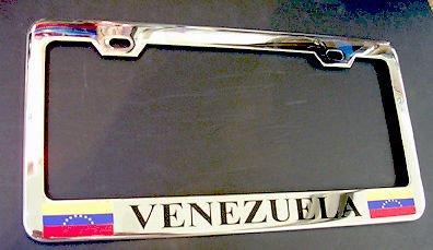 Moon Soporte para Placa de matrícula, diseño de la Bandera de Venezuela, Cromado, Resistente, Ideal para Hombres y Mujeres, decoración de garadjas de Coche: ...
