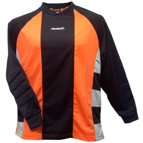 Reusch Barcelona II Longsleeve Goalkeeper Jersey (Medium, Orange/Black/Grey) (Jersey Reusch Long Sleeve)