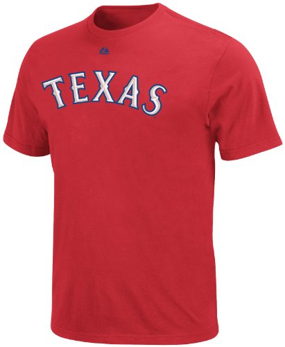 Majestic Youth Rangers Beltre Tee, Large