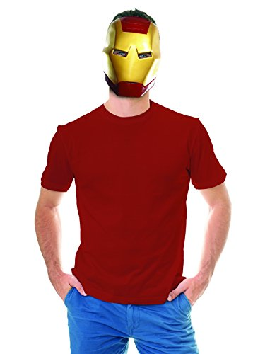 Rubie's Costume Co Unisex-Adults Ben Cooper Iron Man Mask, Multi, One Size -