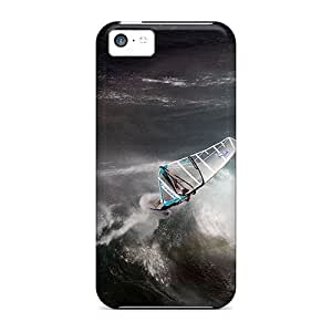StarFisher Scratch-free Phone Case For Iphone 5c- Retail Packaging - Catching The Waves