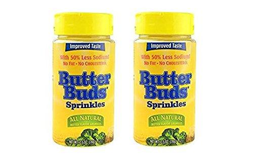 - Butter Buds - Butter Flavor Sprinkles (Pack of 2) 2.5 oz Bottles