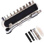RUJOI Mini Bike Tool kit,Bike Repair Tool with Multi Allen Wrench Bits and Tire Lever,Various EDC Multi Tool f