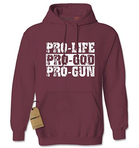 Pro Life Sweatshirt (Hoodie Pro Life Pro God Pro Guns Adult X-Large)