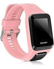 kwmobile bandje compatibel met TomTom Adventurer/Runner 3/Spark 3/Golfer 2 - Horlogeband van TPU en siliconen voor fitnesstracker in roségoud