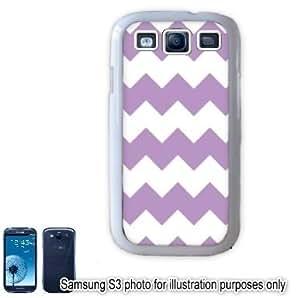Purple Chevrons Pattern Samsung Galaxy S3 i9300 Case Cover Skin White