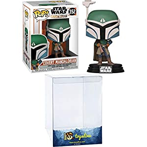 Covert Mandalorian: Funk o Pop! Vinyl Figure Bundle with 1 Compatible 'ToysDiva' Graphic Protector (352 – 45544 – B)