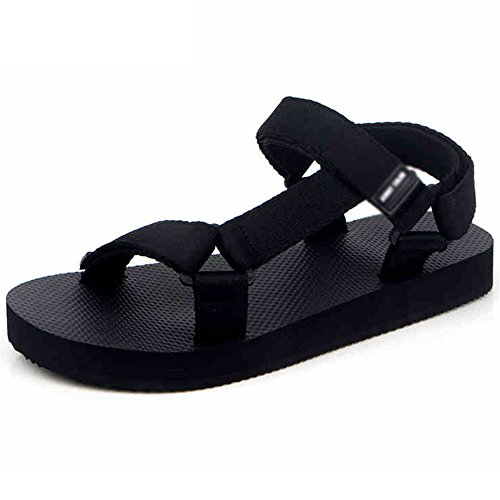 Zapatillas MAZHONG Sandalias de Pareja Zapatos de Playa Antideslizantes Sandalias Exteriores Sandalias Casuales (Color : Black-EU37/UK4.5-5/CN37) Black-eu43/Uk9/Cn44