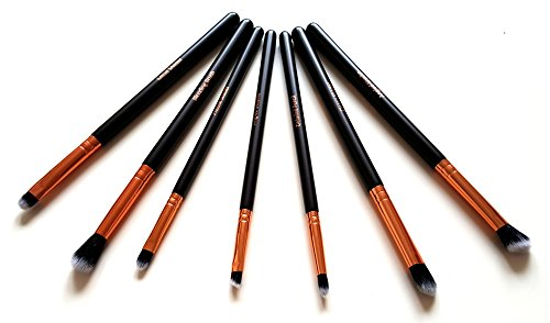 Makeup Eye Brush Set - Eyeshadow Eyeliner Blending - Crease Kit-Best Choice 7 Essential Makeup Brushes - Pencil, Shader, Tapered, Definer, Last Longer, Apply Better Makeup & Make You Look Flawless