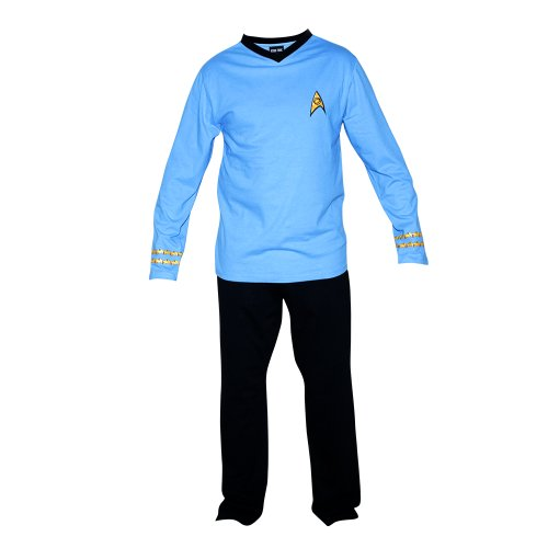 Adult Star Trek Uniform Costumes (Star Trek Adult Spock Officer Uniform Pajama Set (XX-Large))