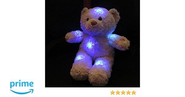 S+K GmbH Oso de peluche con luz nocturna LED Tamaño aprox. 21 cm fácil dulce: Amazon.es: Juguetes y juegos