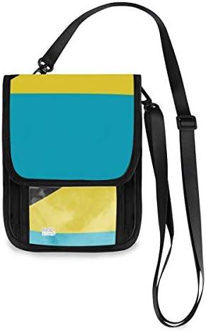 トラベルウォレット ミニ ネックポーチトラベルポーチ ポータブル 青 黄 黒国旗 小さな財布 斜めのパッケージ 首ひも調節可能 ネックポーチ スキミング防止 男女兼用 トラベルポーチ カードケース