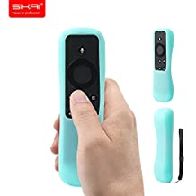 New Amazon Fire TV Stick With Voice Remote Case SIKAI Patent Amazon Fire TV Stick Remote Silicone Case for Amazon Fire TV Stick Remote Protector Case with Hand Strap Included (Voice Remote, Luminous Blue)
