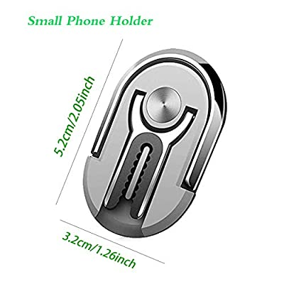 Multipurpose Phone Bracket,YALANLE Phone Ring Holder Finger Kickstand Universal Air Vent Car Phone Mount 3 in 1 Mobile Phone Stand 360 Degree Rotation Multiple-Angle Silver