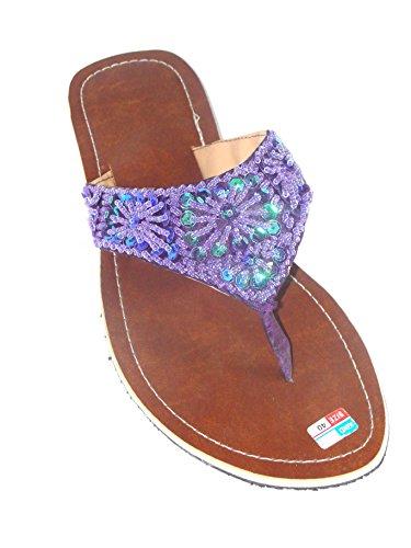 Flip Sandale Violett Zehentrenner Zehenpantolette