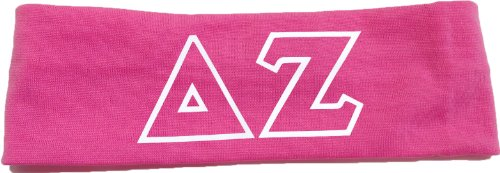 Greek Sorority Merchandise (Delta Zeta Sorority Greek Letters Headband (Pink))