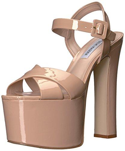 Steve Madden Women's Tammy Platform Dress Sandal Blush Patent NDsgMZRo5