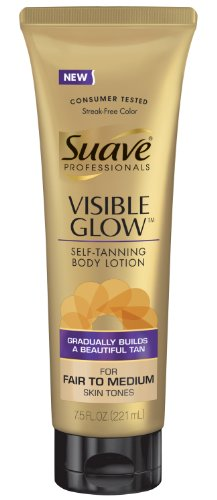 Suave Professionals Visible Glow Self-Tanning Body Lotion, F
