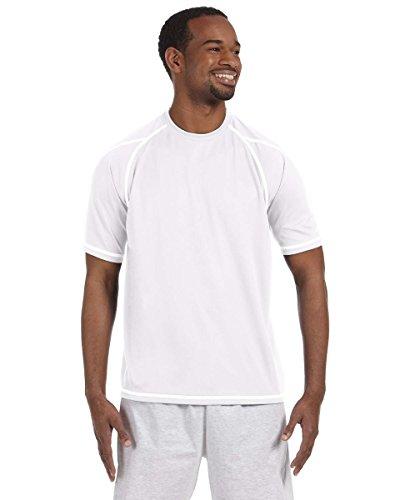 Champion 4.1oz Double Dry® T-Shirt mit Geruch Widerstand Gr. L, Weiß - Weiß