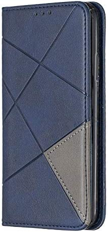 Lomogo iPhone XS/iPhone X Hülle Leder, Schutzhülle Brieftasche mit Kartenfach Klappbar Magnetverschluss Stoßfest Kratzfest Handyhülle Case für Apple iPhone XS/X - LOBFE160025 Blau