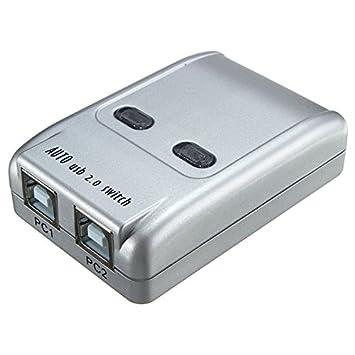 ChaRLes 2 Puerto USB 2,0 Auto Impresora Compartir Conmutador ...