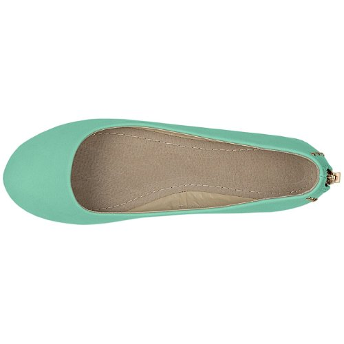 CASPaR Women's Shoes / Slippers with Studs and Zip Various Colours Green - Mint tFpNTwhQpN