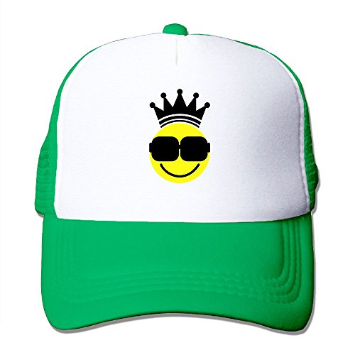 OONONGFU Smily Brille King F2 Big Foam Trucker Baseball Cap Mesh Back Adjustable Cap (Eine Brille Für Baseball)